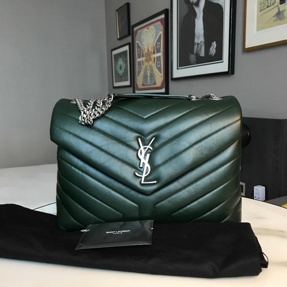 3be84e64d9 Yves Saint Laurent Bags | Ysl Medium Loulou Bag In Dark Green | Poshmark